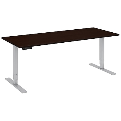 Move 80 Series by Bush Business Furniture 72W x 30D Height Adjustable Standing Desk, Mocha Cherry, Installed (HAT7230MRSKFA)