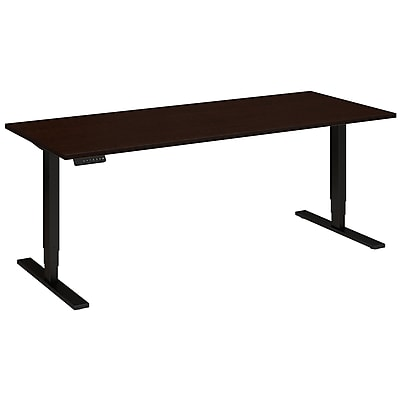 Move 80 Series by Bush Business Furniture 72W x 30D Height Adjustable Standing Desk, Mocha Cherry (HAT7230MRBK)