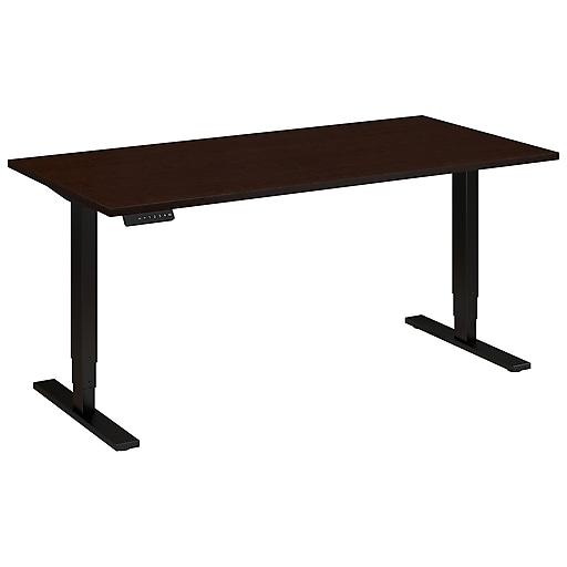 Move 80 Series by Bush Business Furniture 60W x 30D Height Adjustable Standing Desk, Mocha Cherry, Installed (HAT6030MRSBKFA)
