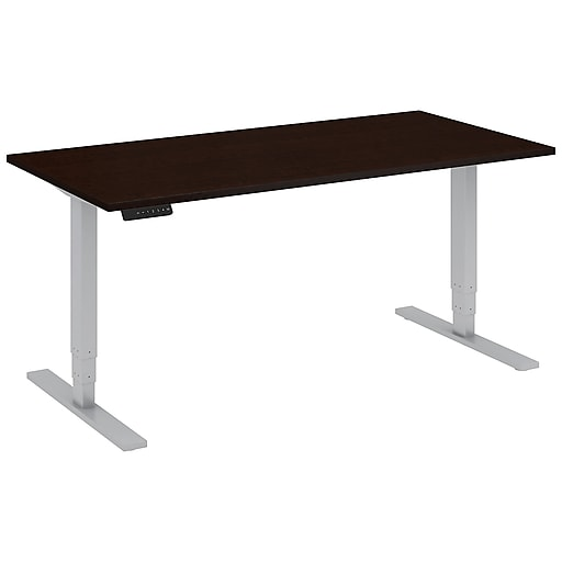 Move 80 Series by Bush Business Furniture 60W x 30D Height Adjustable Standing Desk, Mocha Cherry, Installed (HAT6030MRKFA)