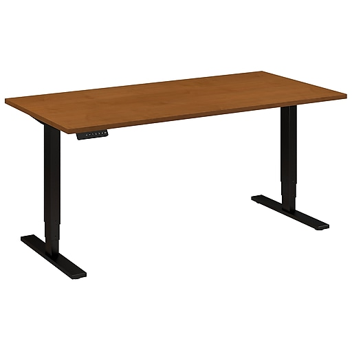 Move 80 Series by Bush Business Furniture 60W x 30D Height Adjustable Standing Desk, Natural Cherry, Installed (HAT6030NCBKFA)