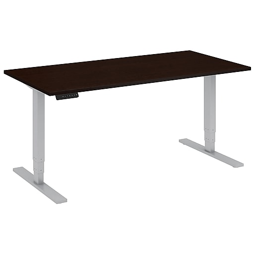 Move 80 Series by Bush Business Furniture 60W x 30D Height Adjustable Standing Desk, Mocha Cherry (HAT6030MRSK)