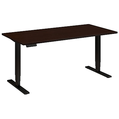 Move 80 Series by Bush Business Furniture 60W x 30D Height Adjustable Standing Desk, Mocha Cherry (HAT6030MRBK)