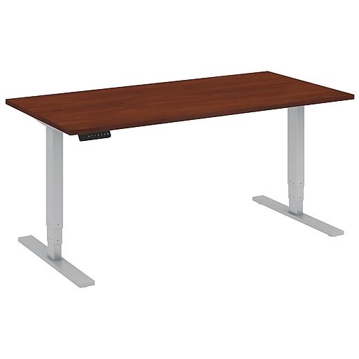 Move 80 Series by Bush Business Furniture 60W x 30D Height Adjustable Standing Desk, Hansen Cherry, Installed (HAT6030HCKFA)