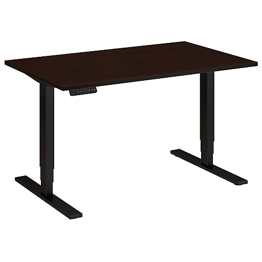 Move 80 Series by Bush Business Furniture 48W x 30D Height Adjustable Standing Desk, Mocha Cherry (HAT4830MRBK)