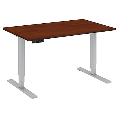 Move 80 Series by Bush Business Furniture 48W x 30D Height Adjustable Standing Desk, Hansen Cherry (HAT4830HCK)