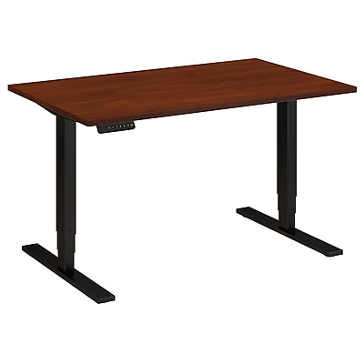 Move 80 Series by Bush Business Furniture 48W x 30D Height Adjustable Standing Desk, Hansen Cherry (HAT4830HCBK)