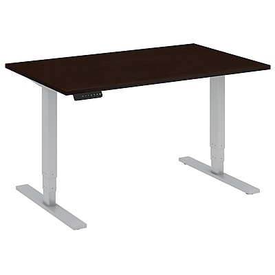Move 80 Series by Bush Business Furniture 48W x 30D Height Adjustable Standing Desk, Mocha Cherry, Installed (HAT4830MRSKFA)