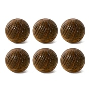 """1.5"""" Wooden Tri Curved Knob, 6/Pack (4156-AM8131-00)"""