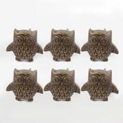 """1.5"""" Owl Metal Door Knob, 6/Pack (4156-BM2614-00)"""