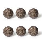 """1.5"""" Wooden Door Knob, Black, 6/Pack (4156-CM1806-00)"""