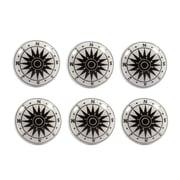 "CJ Marketing 1.5"" ""Compass"" Ceramic Door Knob, 6/Pack (4156-PX2623-00)"