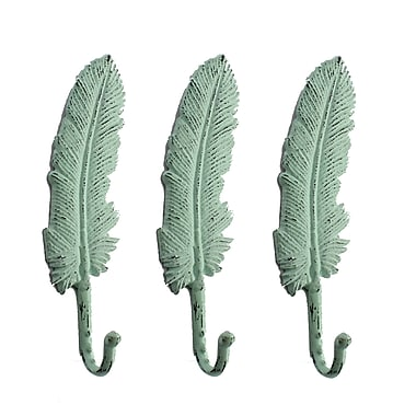 Feather Wall Hook, Teal, 3/Pack (7168-PX0143-00)