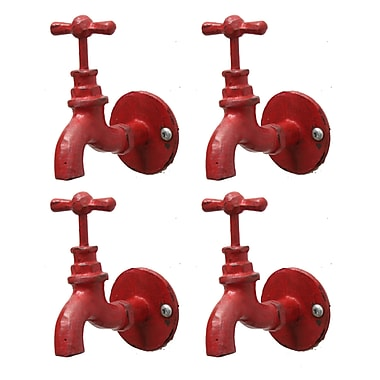 Hook-Faucet, Red, 4/Pack (8811-Y8538Y-RD)