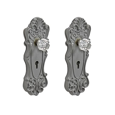 Krys Door Knob Wall Hook, Grey, 2/Pack (9668-JX1426-GY)