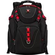 """Wenger MAXXUM Carrying Case (Backpack) for 16"""" Charger, Tablet, Business Card, Notebook, Cable, Black, Red"""