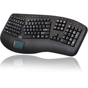 Adesso Tru-Form 4500, 2.4GHz Wireless Ergonomic Touchpad Keyboard