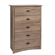 Prepac Salt Spring 5-Drawer Chest, Drifted Gray (DDC-3345)