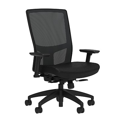 Workplace Series 500 Fabric Task Chair, Black, Integrated Lumbar, 2D Arms, Synchro Seat Slide