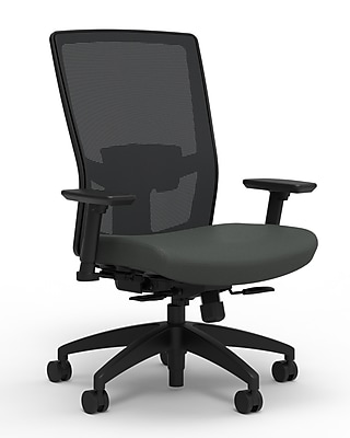 Workplace Series 500 Fabric Task Chair, Iron Ore, Adjustable Lumbar, 2D Arms, Synchro Seat Slide, Partially Assembled