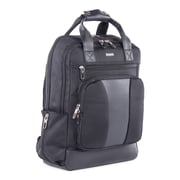 Bugatti Gregory Backpack, Black, Synthetic Leather/Polyester (BKP112-BLACK)