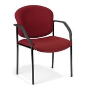 OFM Manor Fabric Guest/Reception Chair, Wine