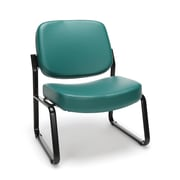 OFM Big and Tall Vinyl Armless Guest/Reception Chair, Teal