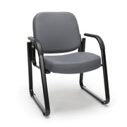 OFM™ Fabric Padded Guest/Reception Chair With Arms and Fully Upholstered Back, Gray