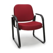 OFM™ Fabric Padded Guest/Reception Chair With Arms and Fully Upholstered Back, Wine