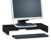 Way Basics Eco Friendly Computer Monitor Stand, Black- Lifetime Guarantee