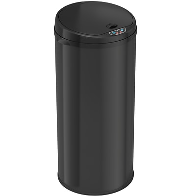 iTouchless® 13 gal. Steel Sensor Trash Can with Deodorizer Black MT13RB