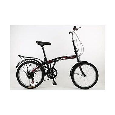 NESTLAND – Vélo pliable de 20 po, 6 vitesses NLX, JX (NL20-6-ON-QUE)