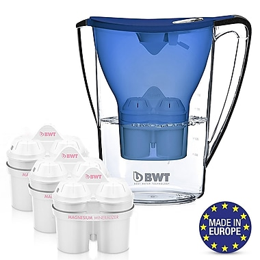 BWT Water Filtration Pitcher, 3 Filters
