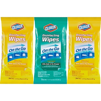 Clorox® Disinfecting Wipes On The Go Value Pack, Scented, 102 Count