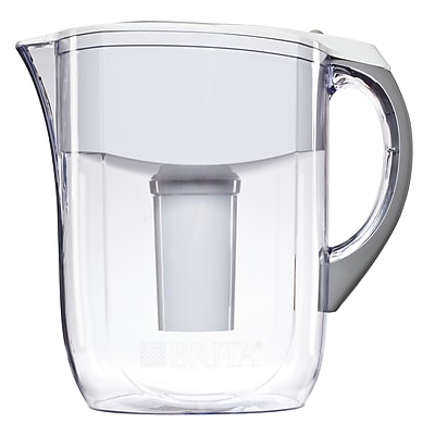 Brita® Large 10 Cup Grand Water Pitcher with Filter - BPA Free - White (42556)
