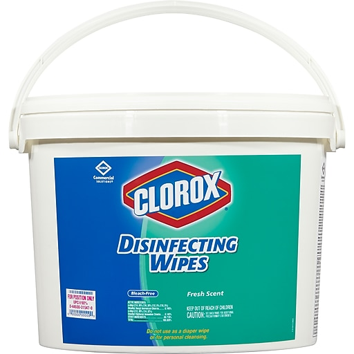 clorox disinfecting wipes fresh scent 700 wipes bucket staples