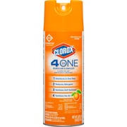 Clorox 4 in One Disinfectant & Sanitizer, Aerosol Spray, Citrus Scent, 14 Ounces (31043)