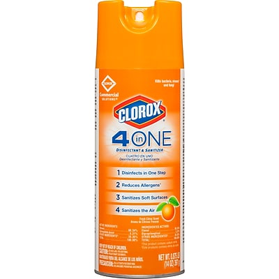 Clorox® 4-in-1 Disinfectant and Sanitizer Spray, 14 oz.