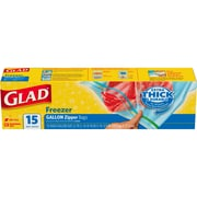 Glad Zipper Food Storage Freezer Bags - Gallon - 15 Count (57034)