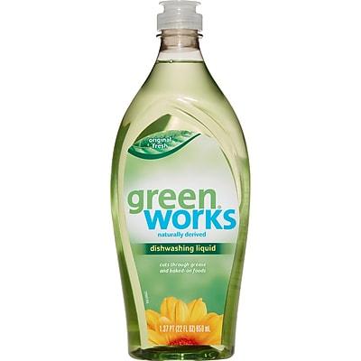 Green Works Dishwashing Liquid, Original Fresh, 22 Ounces