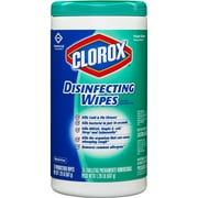 Clorox DisinfeCounting Wipes, Fresh Scent, 75 Wipes (01656)