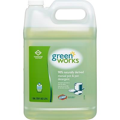 Green Works Manual Pot & Pan Dishwashing Liquid, 128 Ounces (30388)