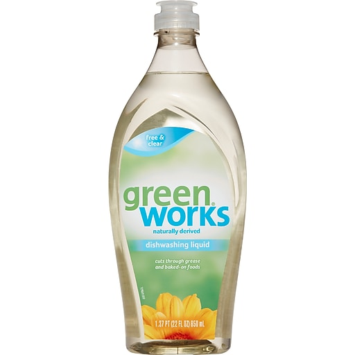 Green Works Dishwashing Liquid, Free and Clear, 22 Ounces (30172)