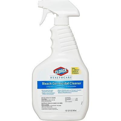 Clorox Healthcare® Bleach Germicidal Cleaner, Spray, 32 oz., 6/Carton (68970)