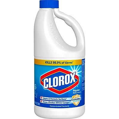 Clorox Regular Bleach, 64 Ounce Bottle (30769CT)