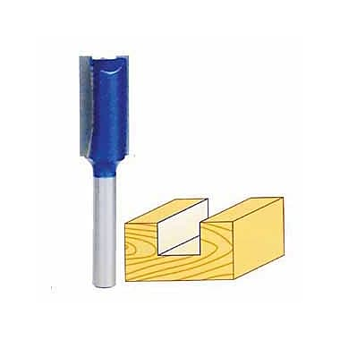 Craftex Blue Tornado™ Double Flute Straight Router Bit, 1