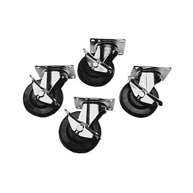 Busy Bee Tools 4 Piece Plate Style Utility Caster Set, 3