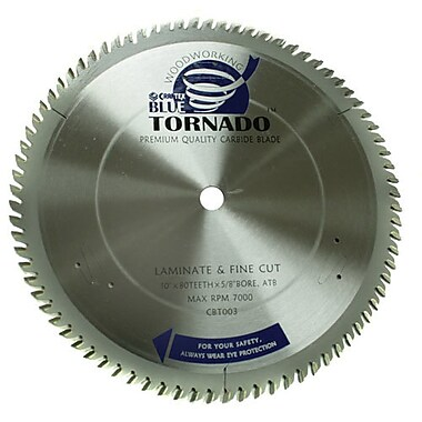 Craftex Blue Tornado™ Laminate and Fine Cut Table Saw Blade, 10
