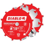 "Diablo® Stacked Dado Saw Blade Set, 8"" x 12T (DD208H)"
