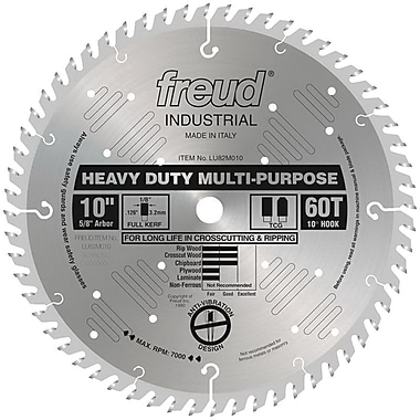 Freud® Heavy Duty Multipurpose Saw Blade, 10